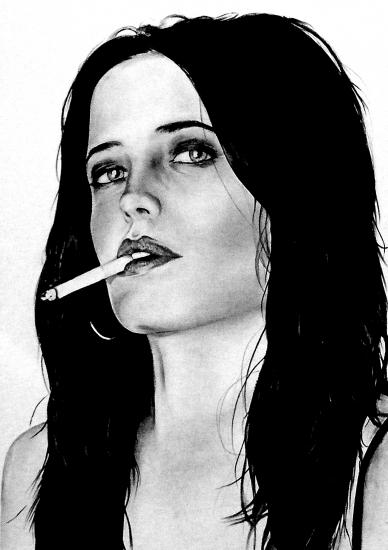 Portrait Of Eva Green By G On Stars Portraits